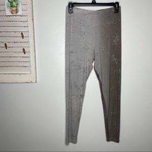 BRYN WALKER Soft Stretch Printed Leggings Pants M